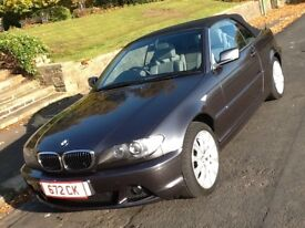 2006 BMW 320 CI SE AUTO CABRIOLET 1 OWNER WITH LEATHER AND FSH IN SHOWROOM CONDITION