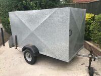 "7ft 6"" x 4ft factory built galvanised box trailer"