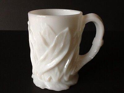 "Elegant Depression Milk Glass Cambridge Everglades 4 1/2"" Mug"