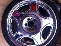 20 inch chrome alloys to fit Mercedes