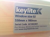 2 X Keylite blackout blinds for skylight roof window - neutral cream colour