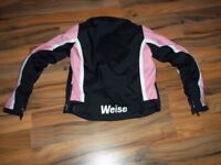 Weise motorcycle jacket size 10 has zipped quilted inner for colder weather