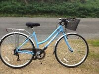 Ladies City Replex bike with basket. Immaculate condition and barely used. Gel seat and helmet.