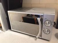 Russell Hobbs Microwave 700W with Dial Controls Silver Grey with Mirrored Door.