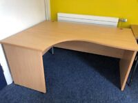 Large curved office desk available 160cm (width) x 120cm (depth) x 70cm (high)