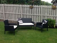 Garden sofa and chairs
