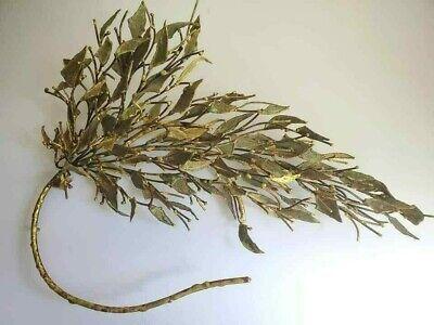 Vtg Mid Century Mod Brutalist Bronze Willow Tree  Wall Art Sculpture Tom Greene Willow Wall Sculpture