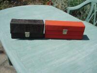 Audio Cassette storage boxes x 2 Vintage Gd Condition