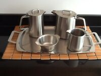 Brand New 5 Piece Stainless Steel Tea-Set