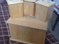Pine bread bin and containers