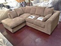 HIGH QUALITY JUMBO CORDED CORNER OR 3+2 SEATER NOW IN STOCK