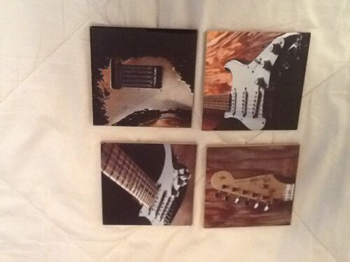 Set of 4 coasters eric Clapton with initials on the back brand new in box