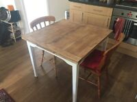 Solid Wood Extending Farmhouse Kitchen Table