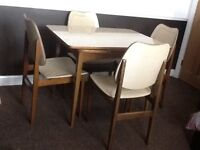 1960's retro Stonehill extendable dining table with 4 matching chairs with matching sideboard