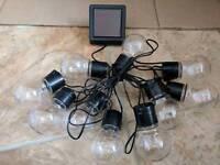 Brand new in box 10 LED Solar powered bulb shape lights