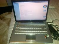 hp pavillion laptop built in wifi webcam charger holds charge good condition cd drive specs in pics