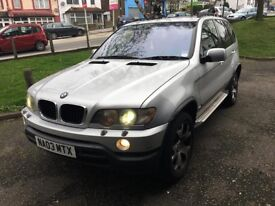 BMW X5 PETROL AUTOMATIC MOT 11 05 18 SPARE OR REPAIR LITTEL MISFIRE NEED SERVICE CAR START AND DRIVE