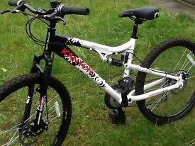 Apollo kanyon dual suspension disc brake mountain bike like new