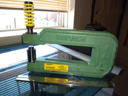 """Unipunch 8AJ 8"""" Throat  """"C"""" Frame Punch Unit with punch and die Punch is 0.2656"""