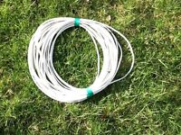 Television cable for hook up to site digital service