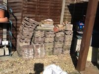 Used concrete roof tiles approx cover area 8mtr X 4mtr