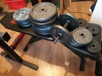 Pro Power Bench - 23 weights - Punchbag - READY TO GO GYM!