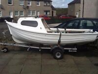 Fishing Boat and Trailer for sale. 13ft. £1200