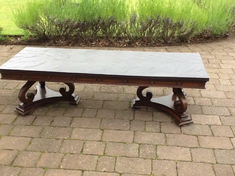 Slate top coffee table in carnoustie angus gumtree Slate top coffee tables