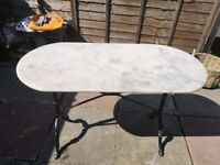 Marble & cast iron table