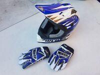 Motocross Helmet Youth Kids Wulfsport v321 size XL + gloves