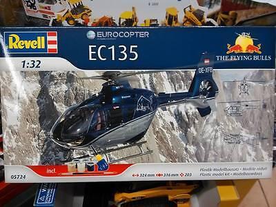 REVELL 05724 EUROCOPTER EC135 THE FLYING BULLS MODEL SET 1:32 <-> 324 cm