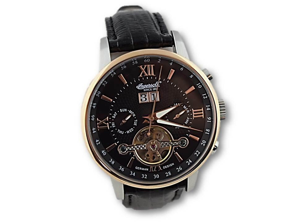 INGERSOLL Herren Uhr Armbanduhr IN6900RBK Grand Canyon IV schwarz Automatik
