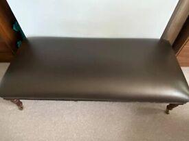 Brown Seat Bench/Foot Stool