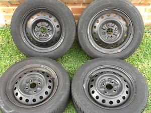 Four 14' X 5.5' Steel Rims with 4 X 100 Stud pattern. All tyres a Prestons Liverpool Area Preview