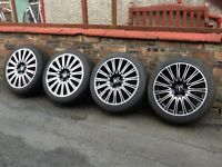 Alloy wheel rims and tyres