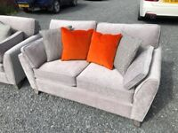 New/Cancelled order Stunning silver 3+2 fabric suite - delivery available