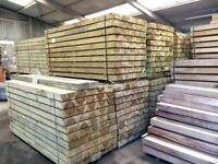 NEW TREATED PINE GARDEN SLEEPERS - 2400MM X 200MM X 100MM.