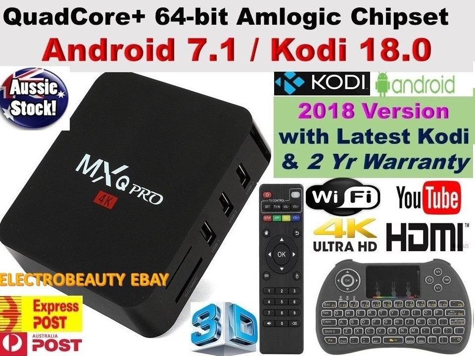 2018 MXQ PRO 4K TV BOX MAG BOX IPTV ANDROID 7 1 QUAD CORE KODI 18 MEDIA  PLAYER 1GB+8GB with Keyboard | in Bradford, West Yorkshire | Gumtree