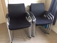 20 - SEDUS OPEN UP - MESH - VISITOR ARM-CHAIRS ,TOP QUALITY CHROME FRAME BLACK - STACKING - VG COND