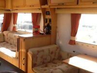 Elddis Odyssey towing caravan