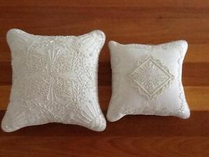 Cream Beaded Cushions Taren Point Sutherland Area Preview