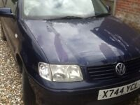 Volkswagon polo 1.4 match spares or repairs