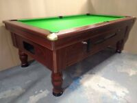 Ex Pub Pool Table 7x4 - Newly Recovered & Accessories - Free Local Delivery - Coin Op or Freeplay