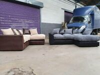 BYRON JUMBO CORD CORNER/3+2 SEATER SET AVAILABLE IN STOCK