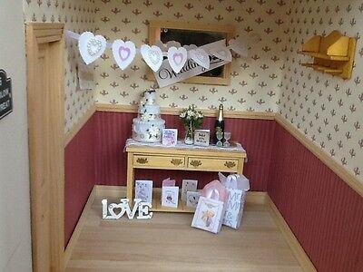Dolls house miniature 12th scale - Wedding  decoration set