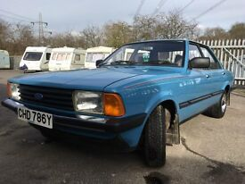 1983 ford cortina 1300 crossflow crusader 42.508 genuine miles 1 owner from new garage stored