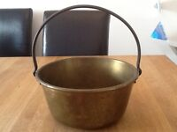 Brass Jelly/ Jam pan with cast iron handle vintage