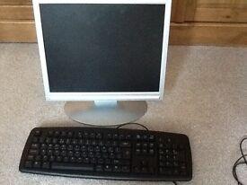 17inch monitor and keyboard
