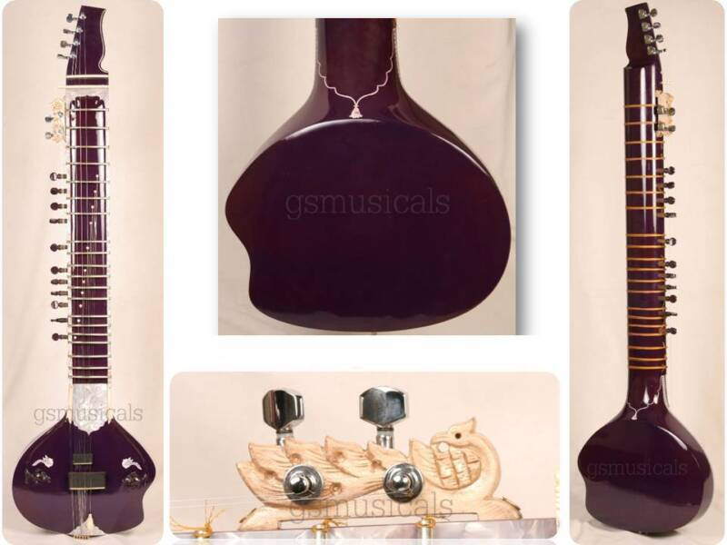 SITAR ULTRA PRO ELECTRIC WITH FIBERGLASS CASE GSM020 C