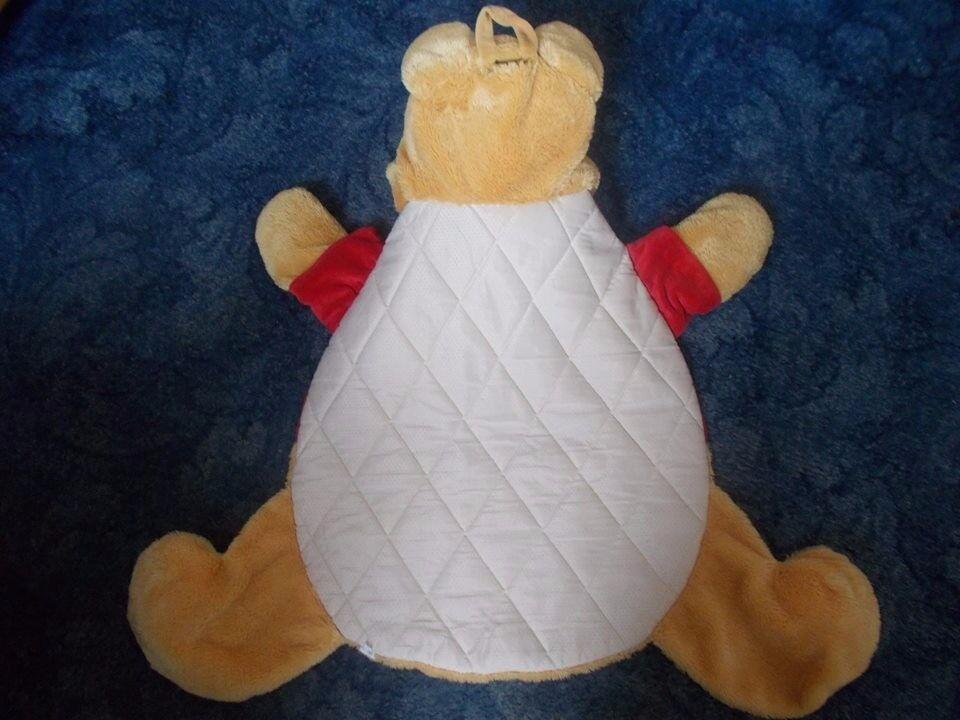 WINNIE THE POOH BEAR SHAPED BABY BLANKET £3